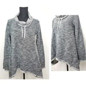 Calvin Klein performance gray knit pullover Sz M